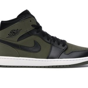 "Jordan Shoes - Jordan 1 Mid ""Olive Canvas"""